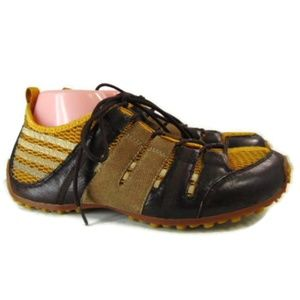 Tsubo Mens Brown Mesh Lace Up Shoes US 10 EUR 43